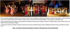Tercer Encuentro de Danzas de Malleco se relizará en Traiguén